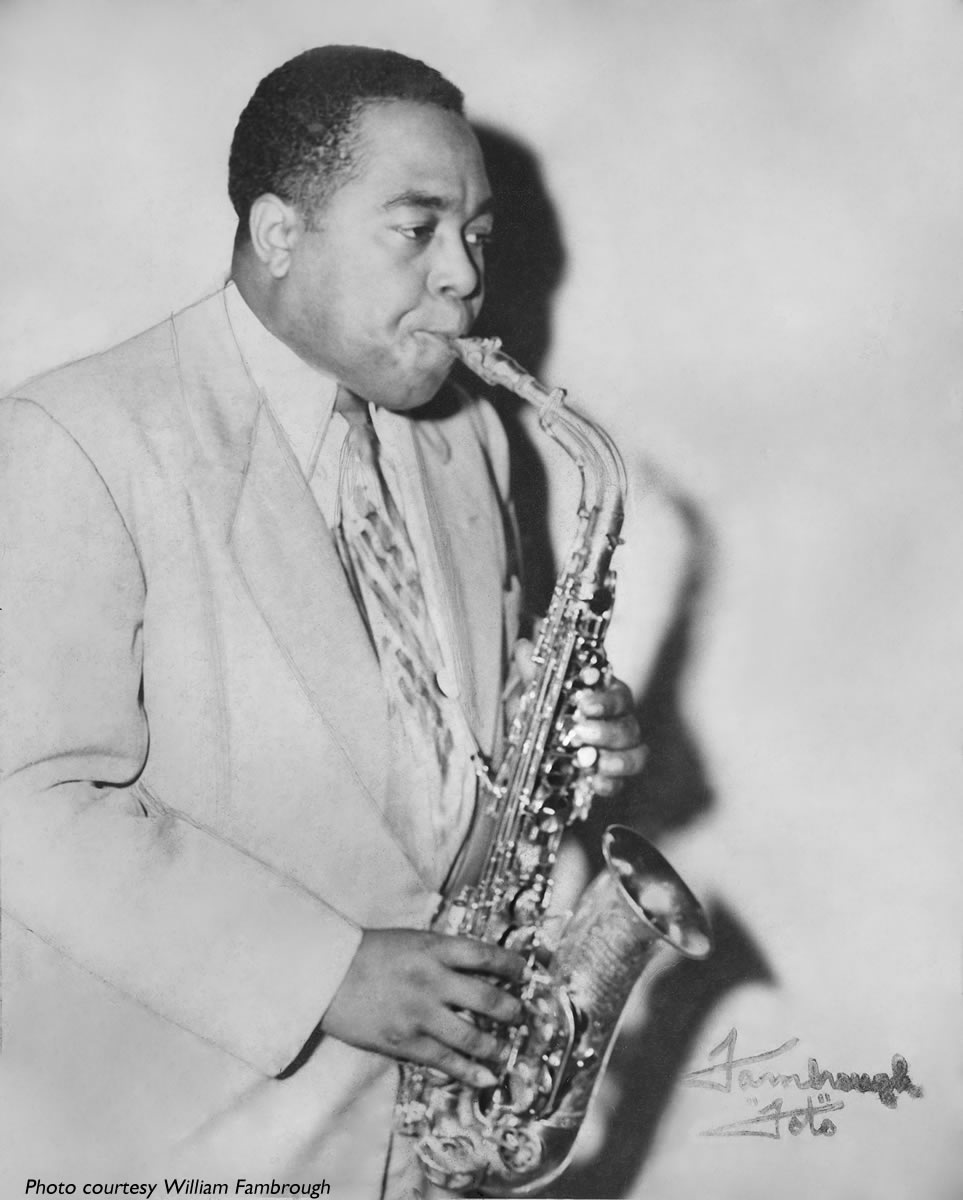 Charlie Parker, photo courtesy William Fambrough